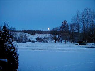 Music Writer: Lynda Dobbin-Turner  Full moon rising over the hills in the distance.  Lavenham, Manitoba, Canada