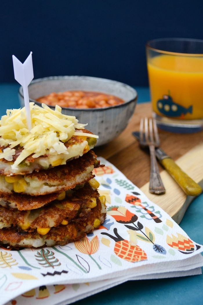 Easy Cheesy Vegetable Potato Cakes - a simple recipes for potato cakes that are great for using leftover veg. Kids love these. #potatocakes #kidsrecipes #burgers #veggieburgers #veganburger #vegan #dairyfree #lunch