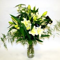 Lilies and Lizies Hand Tied Flower Bouquet
