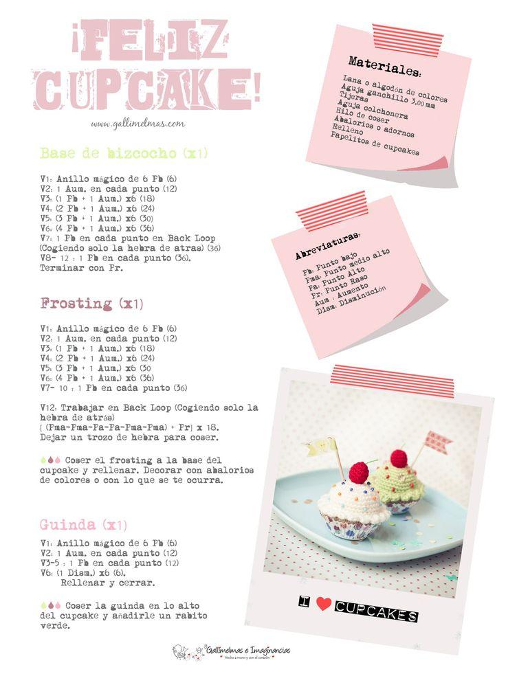 Lo reconozco, me gusta más mirar los cupcakes que comermelos ^^U  Es que no soy nada golosa, a mí me va lo salaillo, pero no puedo negar que...