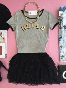 Compre T-shirt - Moda Feminina na loja Estação Store com o menor preço e ande sempre na moda.