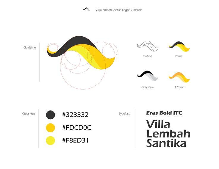 Villa Lembah Santika Logo Guideline #TataWarna #logo