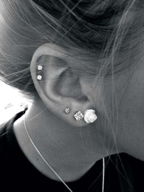 Piercing in ear