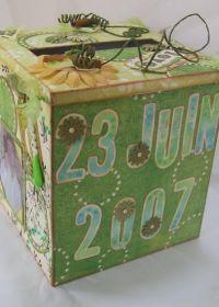 Décoration - Décoration de salle et urne - Urne mariage vert champêtre - Touslesmariages.com