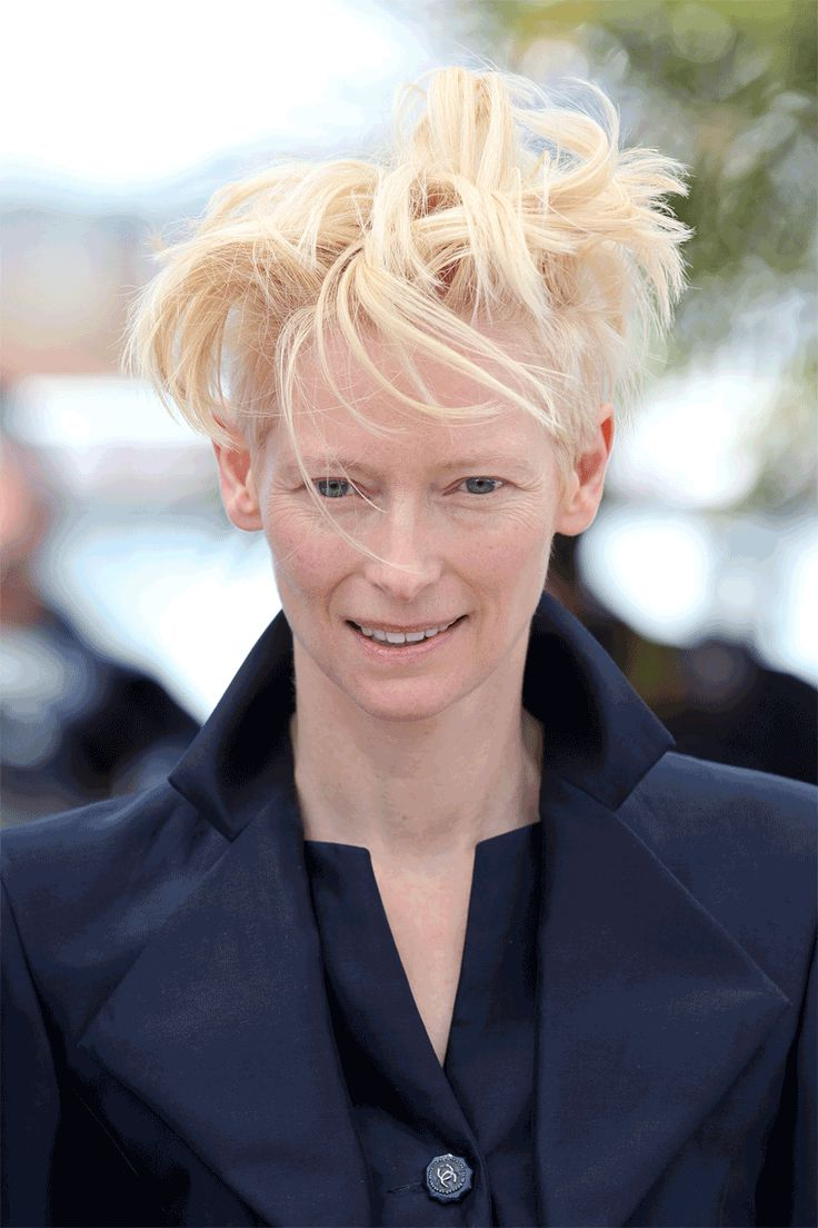 Tilda Swinton's Hair Blows in the Cannes Wind - Tilda Swinton proves beyond a doubt that beauty is in the eye of the beholder - to me she is so beautiful and unique - she has set herself  a part from the rest of the world and she set herself free from all the media hype perception of what beauty is...