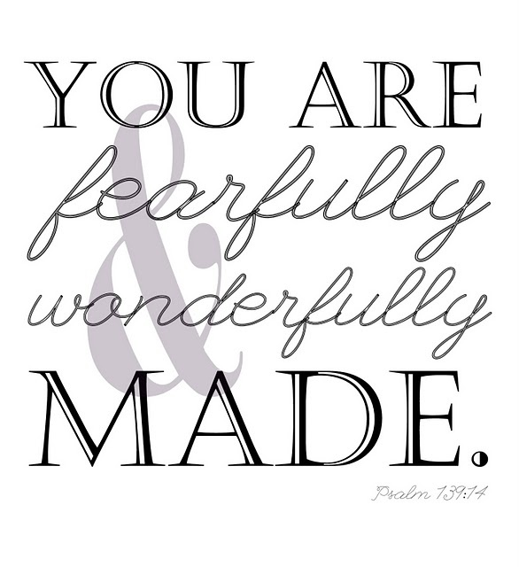 {fearfully & wonderfully made} print. Psalm 139:14