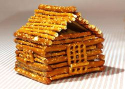 Pretzal Log Cabin - Could be used for pioneers or President's Day.