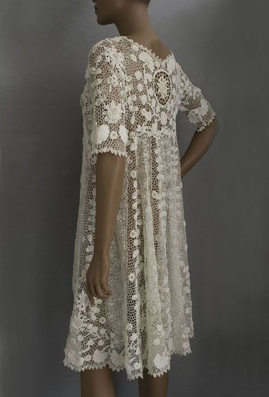 Irish crochet lace coat or dress, c.1920s