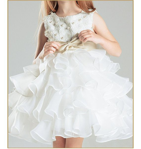Champagne Tulle Flower Girl Dress/Ready to go size by BridalDebut