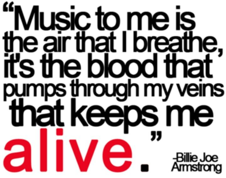 Great music quote from Billie Joe Armstrong of Green Day