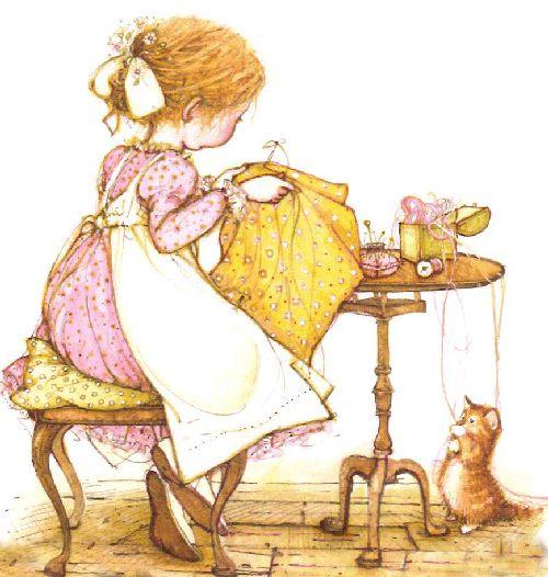 So You're Gonna Sew ♥♥♥ ...Holly Hobbie -Grille broderie Brodée par Eolilu - Le Blog des Dames