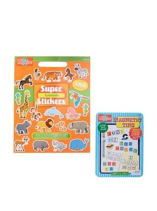 25% OFF T.S. Shure Animals Stickers and ABC & 123 Tin Set