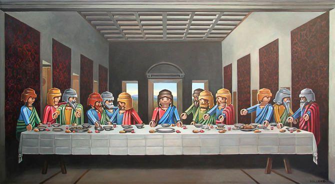 La Cène de Leonardo da Vinci.
