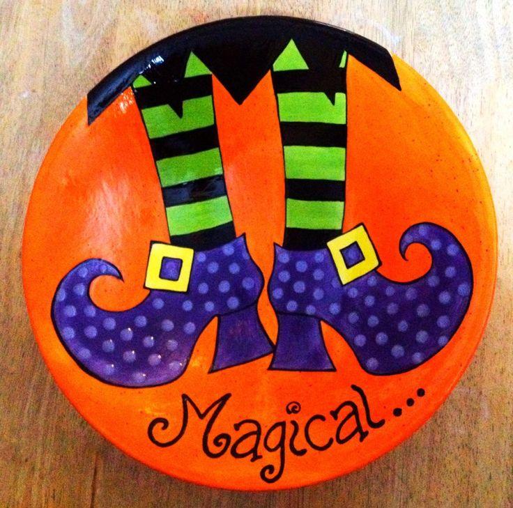 witchs feet plate halloween idea pyop - Halloween Ceramic Plates