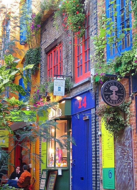 Colours of Neal's Yard in London