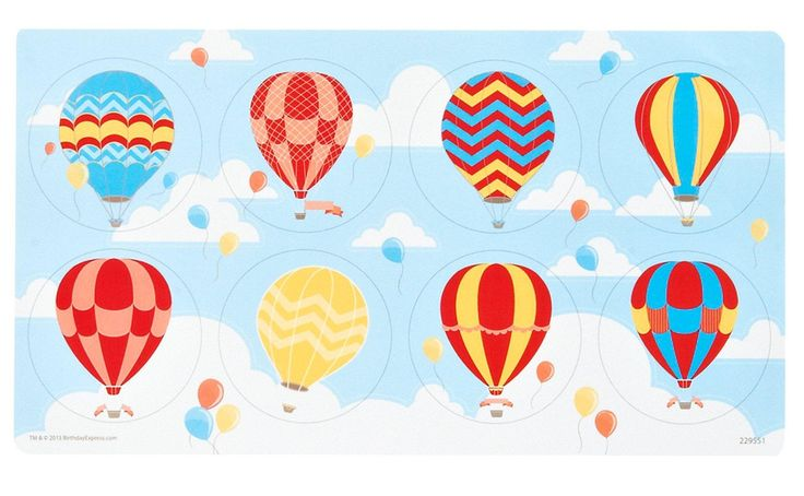 Up, Up and Away Large Lollipop Sticker Sheet, 88717