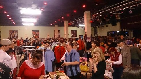 Indoor car boot sale at Rhythm Riot