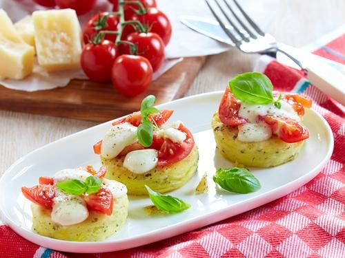 Rezept Gratinierte italienische Kartoffelplätzchen