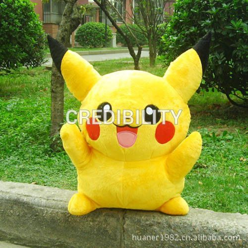 Pokemon 16in Big plush toys large anime Yellow Pikachu doll birthday gift