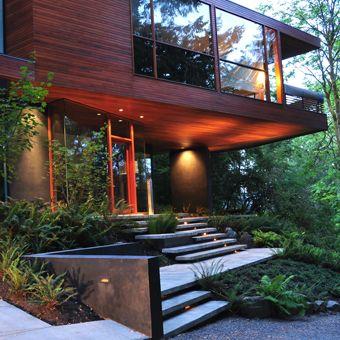 modern house. modern steps.