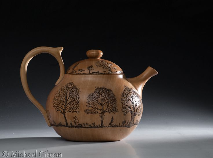 Michael Gibson woodturner, Pyroengraving by Cynthia Gibson