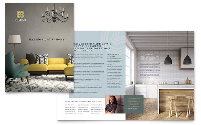 Interior Design Brochure Template Design by StockLayouts