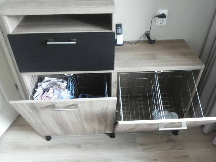 I Was Searching For A Solution To Create A Built In Hamper The Besta Cabinets