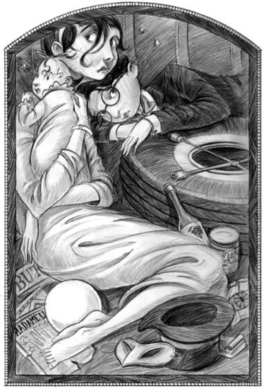 Brett Helquist - illustration from The Hostile Hospital (A Series of Unfortunate Events)
