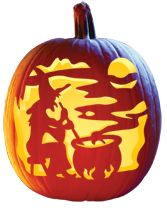 """Witch's Brew"" FREE Pumpkin Carving Pattern Download"