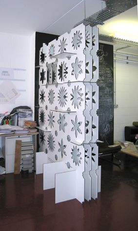 """We love modular ideas! """"Modular room divider - this is in the fab lab where I do my prototyping!"""""""