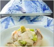 イベント: PIR Hospitality Industry 2013~ジャパンパビリオン 場所: ロシア(モスクワ) 甘鯛と松茸のかぶら蒸し