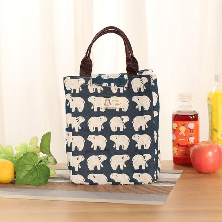 Insulation Package Portable Waterproof Canvas Lunch Bags With Rice Thermal Insulated Tote Picnic Lunch Cool Bag Cooler Box Dec20