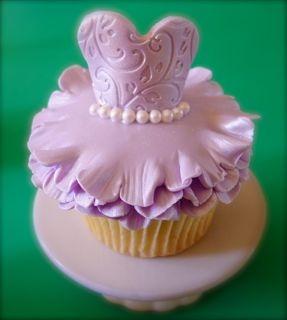 lilac ballerina cupcake