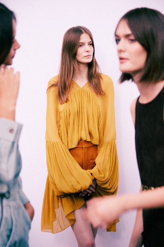 Dasha+Denisenko+(Women)+backstage+at+Chloé+SS15