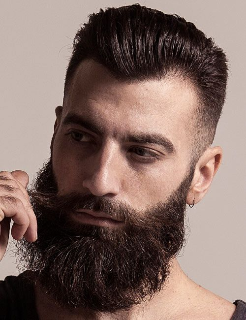 Cool beard with temple fade