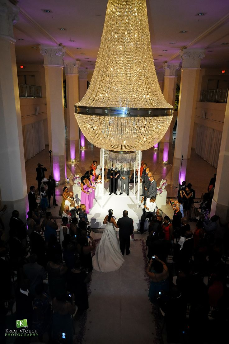 wedding venues on budget in atlanta%0A Amazing ceremony spotlight for The Wedding of Their Dreams in our   GrandAtrium at     Peachtree