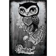 Owl by Gunnar Gaylord Black and White Fine Art Print.