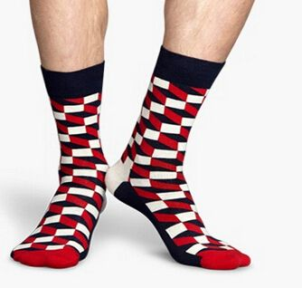 30% off 2016 New men Gradient Color Cotton argyle Socks Happy socks British Style Plaid Socks meias  kd socks funny