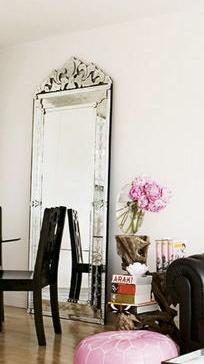 Freestanding Venetian mirror