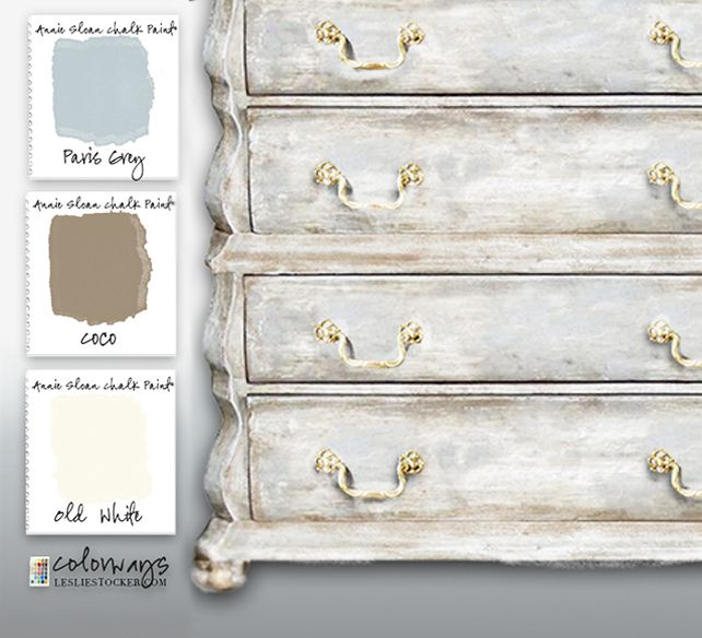 When I'm in a quandary about color, I have a few Annie Sloan Chalk Paint® combinations that never fail, never disappoint. It's my favorite neutral, a greige  made of CoCo, Paris Grey ...