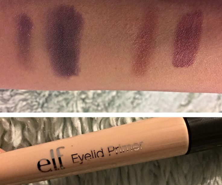E.l.f. Eye primer! $3. Left is bare minerals right is drug store Maybeline! Love it!