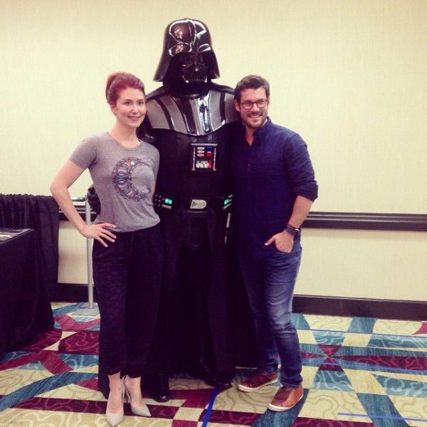Jewel Staite, Sean Maher, And Darth Vader. Shiny!