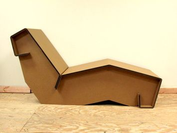 Visit this store and purchase this cardboard chaise!
