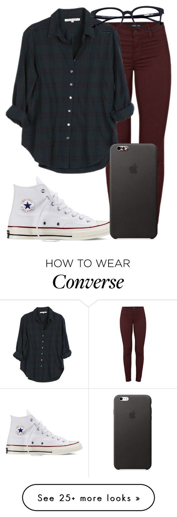 """Baby, it's Magic"" by mallorimae on Polyvore featuring J Brand, Xirena and Converse:"