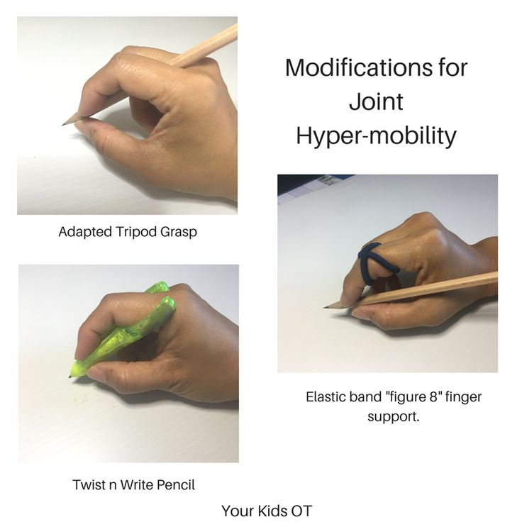 Pencil Grasp Modifications for Joint Hyper-Mobility.  Your Kids OT
