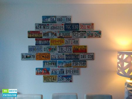 1000 id es sur le th me plaque immatriculation sur for Idee deco usa