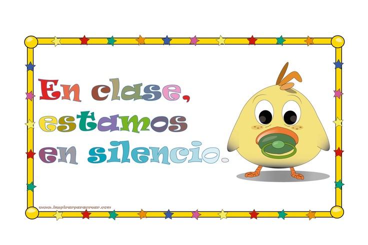 Cartel de estamos en silencio muy bonito para decorar for Como mantener silencio en un comedor escolar