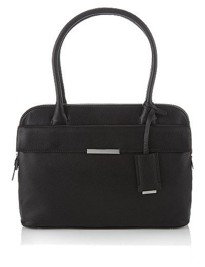 Leather Tote Bag with Zipped Padded Laptop Compartment | Marks & Spencer London