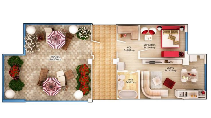 APARTAMENT IRIS SKY - 2 CAMERE Suprafaţă construită: 77.30 mp Suprafaţă utilă: 62.02 mp Suprafaţă terasă: 60 mp Apartament disponibil doar la etajul 4 PRET: 63.200e + TVA 5%