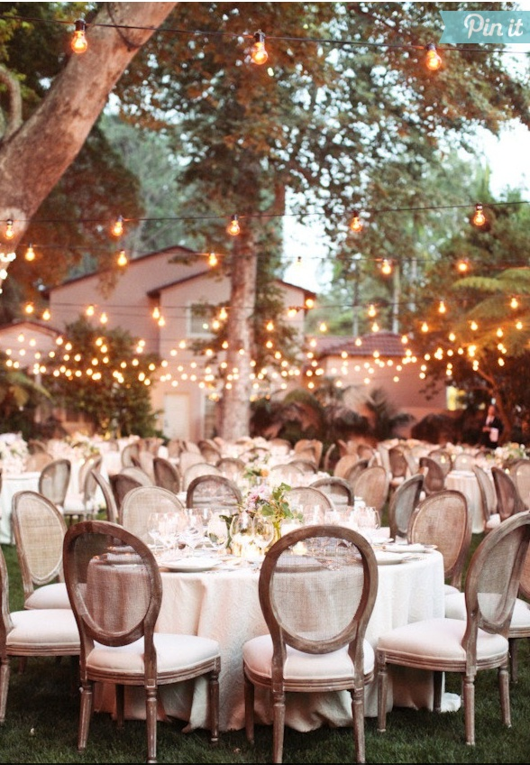 Hipster Backyard Wedding : Backyard weddings, Backyard wedding lighting and Backyards on